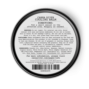 Canna River Cooling Balm back